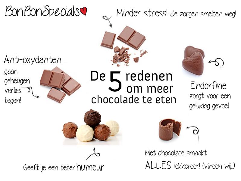5 redenen om chocolade te eten